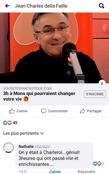 temoignage facebook h
